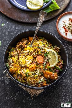 Aromatic and flavorful restaurant style Vegetable Biryani! This fragrant biryani is packed with veggies, spices, herbs and nuts and is an explosion of flavors in every bite! Rice Recipes, Indian Food Recipes, Gourmet Recipes, Vegetarian Recipes, Cooking Recipes, Healthy Recipes, Ethnic Recipes, Arabic Recipes, Indian Foods