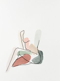 ANML studio's emotionally evocative work aims to draw in the viewer by revealing intimate situations, aspects of the human experience, and evidence of the mindset/process of the artist. Kunst Inspo, Art Inspo, Art Sketches, Art Drawings, Outline Drawings, Minimal Art, Aesthetic Art, Painting & Drawing, Original Artwork