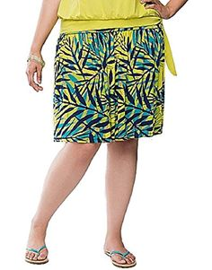 Lane Bryant Tropical Palm Print Flippy Knit Skirt Womens Plus Size 2224 *** Check out this great product.