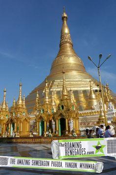 Strolling around the awe inspiring Shwedagon pagoda, Yangon, Myanmar (Burma) > https://theroamingrenegades.com/2017/08/Shwedagon-pagoda-Myanmar-Burma.html #temple #religion #yangon #rangoon #travel #burma #myanmar #pagoda #southeastasia #asia #backpacking #buddhism #adventure