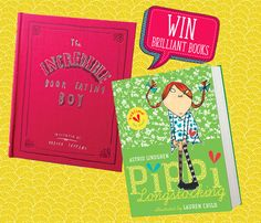 Bag copies of The Incredible Book Eating Boy by Oliver Jeffers and Astrid Lindgren's Pippi Longstocking, illustrated by Lauren Child. Visit: http://www.storytimemagazine.com/win