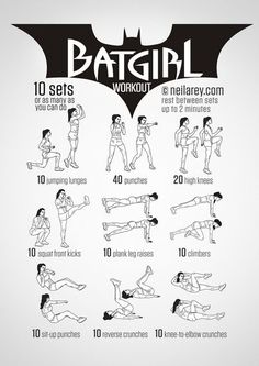 Train Like a Superhero | Neila Rey Batgirl Stonger Fitness Women workouts
