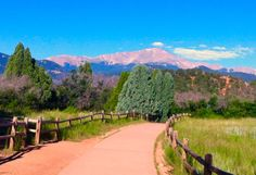 View of Pike's Peak from Garden of the Gods, Colorado