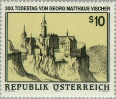 Sello: Georg Matthäus Vischer, 300th anniversary of his death (Austria) Mi:AT 2185,Yt:AT 2014,ANK:AT 2216