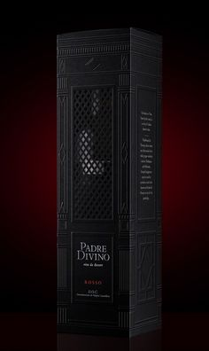 Padre Divino wine, amazing design and diecut