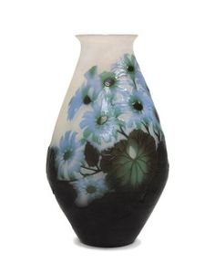 1480: A Galle Cameo Glass and Wheel Cut Vase, Height 9