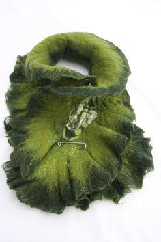 Felted scarf by Angellum1 on Etsy, $50