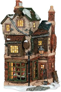 online shopping for Department 56 Dickens' Village Cratchits Corner Lit Building from top store. See new offer for Department 56 Dickens' Village Cratchits Corner Lit Building Christmas Village Display, Christmas Village Houses, Halloween Village, Christmas Town, Christmas Villages, Christmas Carol, Christmas Decorations, Halloween Labels, Spooky Halloween