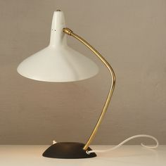 Shop table lamps and other antique, modern and contemporary lamps and lighting from the world's best furniture dealers. Brass Table Lamps, Desk Lamp, Gold Table, Retro Lampe, Contemporary Lamps, Scandinavian Modern, Vintage Lamps, Mid Century Modern Design, Lamp Design