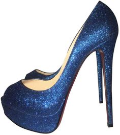 Christian Louboutin Leather heels Glitter Pumps 65e0017e9