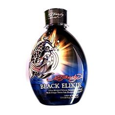 Ed Hardy Black Elixir Indoor Tanning Bed Lotion Bronzer w/ Tattoo Protection Best Tanning Lotion, Suntan Lotion, Protection Tattoo, Bronzer, Anti Aging Treatments, Whiskey Bottle, Perfume Bottles, Indoor, Product Review