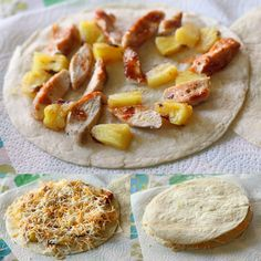 Grilled Pineapple and Chicken Quesadillas - Heather I'm making this for you and I since we're the only people I know who like hawaiian pizza