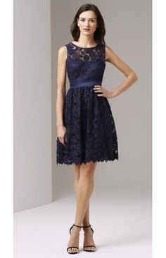 Midnight Illusion Neck Adrianna Papell Party Dress