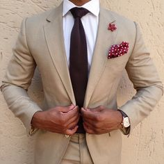 Antonio Ambrosio Mens Neckties & Pocket Squares - Menswear Fashion - Brown Knitted Tie | OTAA.COM