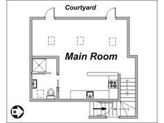 Paris Studio T1 logement location appartement - plan schématique  (PA-3562)