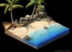 [CE] Beach diorama - Polycount Forum