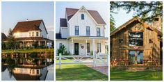 These houses are the epitome of country living.