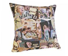 Hollywood Nostalgia Pillows, Elvis, Marilyn, Bogart, Celebrity, Retro Cinema Cushion Covers, Gift for MOM DAD Grandparents, 18x18, SALE