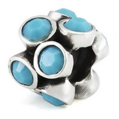 Ohm Silver Turquoise Bead at Classic Charms