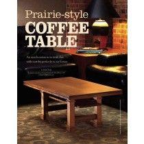 Prairie-style Coffee Table  Digital Download