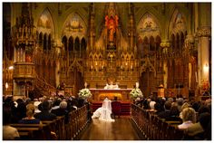 Montreal Wedding by Badger Photography - Church Ceremony at Paroisse Saint-Viateur-d'Outremont - http://badgerphotography.ca