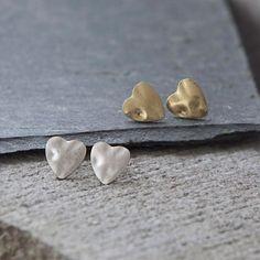 Tutti & Co Jewellery Heart Stud Earrings in Gold & Silver Now £12 from Lizzielane.com http://www.lizzielane.com/product/tutti-co-jewellery-heart-stud-earrings/