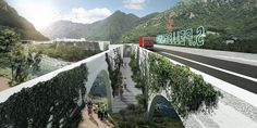 Image 49 of 50 from gallery of BIG Selected to Design San Pellegrino Factory and Headquarters in Northern Italy. Photograph by BIG San Pellegrino, Big Architects, Win Competitions, Italy Images, Famous Buildings, Maritime Museum, Northern Italy, Home Pictures, Arcade