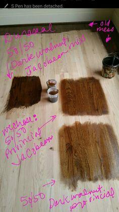 super dark please Hardwood Floor Stain Colors, Staining Wood Floors, Wood Stain Colors, Hardwood Floors, Wood Flooring, Dark Walnut Floors, Red Oak Floors, Dark Walnut Stain, Duraseal Stain