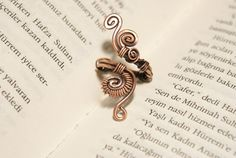 Wire wrap ringcopper ringadjustable wire wrapped by BeyhanAkman, $18.00