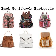 Back To School: Backpacks.  I want one so bad for the rest of this year! :)