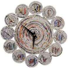 Newspaper Craft Ideas Arts And Crafts To Do At Home intended for News Paper Crafts Recycled Paper Crafts, Recycled Magazines, Recycle Newspaper, Newspaper Crafts, Crafts To Do, Arts And Crafts, Diy Crafts, Paper Clock, Rolled Paper Art