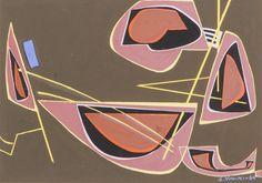 Sam Vanni, 1964, guassi, 35x46 cm - Hagelstam A148
