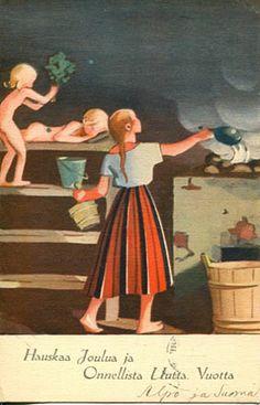 Martta Wendelin Childrens Christmas, Christmas Art, School Posters, Old Paintings, Vintage Children, Finland, Martini, Sculpture, Folk Art