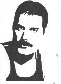 Entertainment Discover Freddie Mercury by El-Teo رسوميات Stencil Patterns, Stencil Art, Arte Do Hip Hop, Pop Art, Gravure Laser, Nagellack Design, Silhouette Clip Art, Queen Freddie Mercury, Scroll Saw Patterns