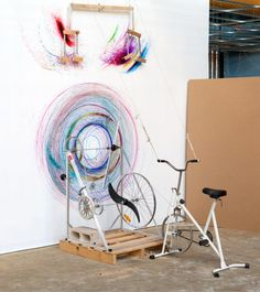 Drawing Machine - Melbourne based Joseph L. Griffiths' drawings and mechanical installations seek to transcribe the living relationship between man and machine.