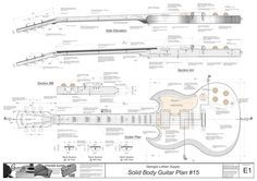guitar dimensions inches - Google Search