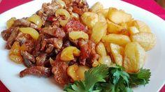 Bogyiszlói sertéscsíkok Meat Recipes, Nutella, Bacon, Pork, Food And Drink, Cooking, Ethnic Recipes, Finger, Kale Stir Fry
