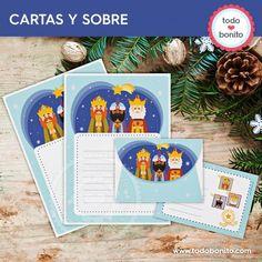 Reyes Magos: papeles de carta y sobre - Todo Bonito Ideas Geniales, Filing Cabinets, Writing Letters, Wizards, Paper Envelopes, Presents