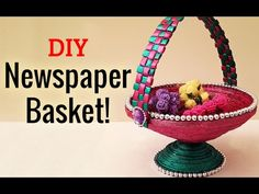 Learn How to Make Newspaper Basket Step by Step | Newspaper Craft Ideas | DIY Project Ideas