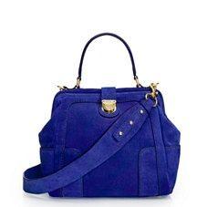 cobalt blue suede j crew handbag - Google Search