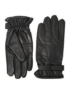 Burnished leather thinsulate glove