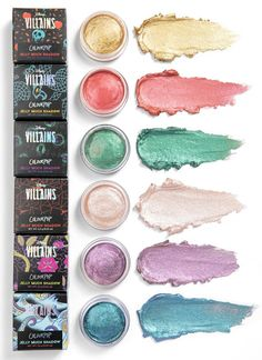 The ColourPop x Disney Villains makeup collection brings to life the likes of Ursula, Cruella de Vil, The Evil Queen, Maleficient, Hades and Dr. Disney Villains Makeup, Disney Makeup, Colour Pop, Colourpop Cosmetics, Makeup Cosmetics, Drugstore Makeup, Makeup Brands, Best Makeup Products, Disney Products