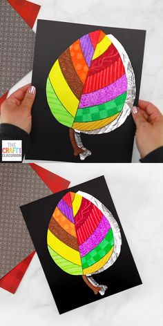 Free Fall Leaf Art Project for Kids! Create this stunning fall leaf artwork with our free printable template and step-by Color Art Lessons, Kindergarten Art Lessons, Art Lessons For Kids, Art Lessons Elementary, Science Lessons, Laurel Burch, Leaf Projects, Fall Art Projects, Line Art Projects