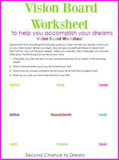 Organize your dreams by creating a vision board for your