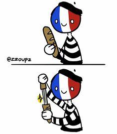 Countries And Flags, Cool Countries, Funny Video Memes, Funny Relatable Memes, Hetalia, Rowley Jefferson, Human Flag, Cute Kawaii Animals, Mundo Comic