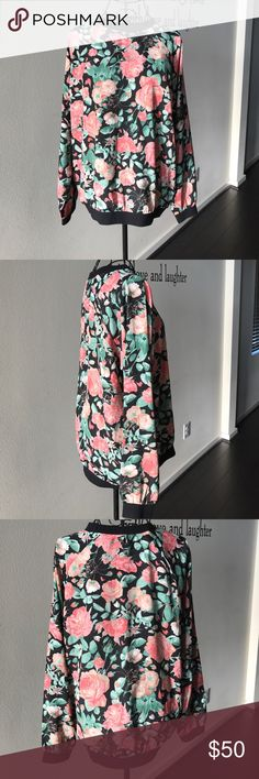 Lovers + Friends Rose Thin Long Sleeve Blouse Lovers + Friends Rose Thin Long Sleeve Blouse Lovers + Friends Tops Blouses