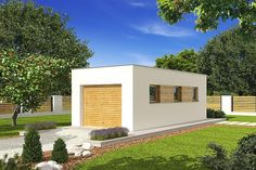Projekt domu Simon energo plus - koszt budowy 239 tys. Modern Bungalow Exterior, Bungalow House Design, Modern House Design, Facade House, Small House Plans, Bathroom Interior, How To Plan, Home Fashion, House Styles