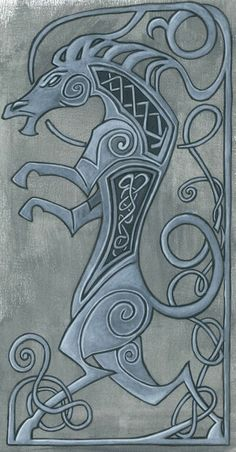 Acrlylic on paper celtic horse Celtic Mythology, Celtic Symbols, Celtic Art, Celtic Knots, Mayan Symbols, Egyptian Symbols, Ancient Symbols, Celtic Quilt, Norse Tattoo