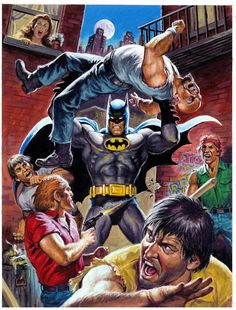Batman vs Two Face by Earl Norem *
