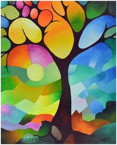 Een figuratiefe ( onrealistische ) boom